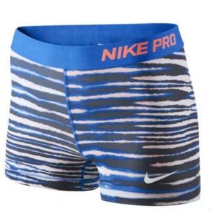 WOMENS NIKE PRO COMBAT PRINTED TRAINING SHORTS
